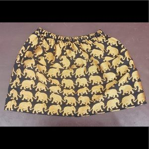 Crewcuts Metallic Skirt in Elephant Parade